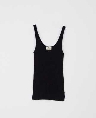 Linda Lyocell Rib Top, Dark Blue