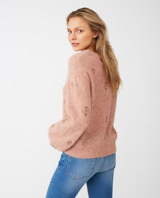 Adelia Alpaca Blend Sweater, Pink