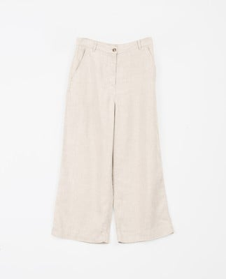 Lina Linen Pants, Light Beige