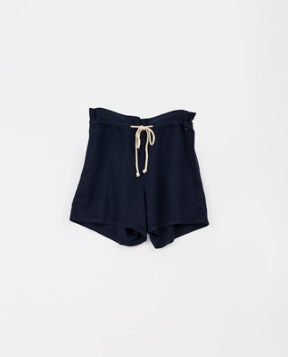 Johanna Lyocell Shorts, Dark Blue
