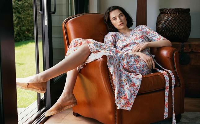 Rose Wrap Skirt, Meadow Print