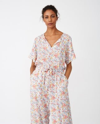 Kendell Printed Jumpsuit, Meadow Print
