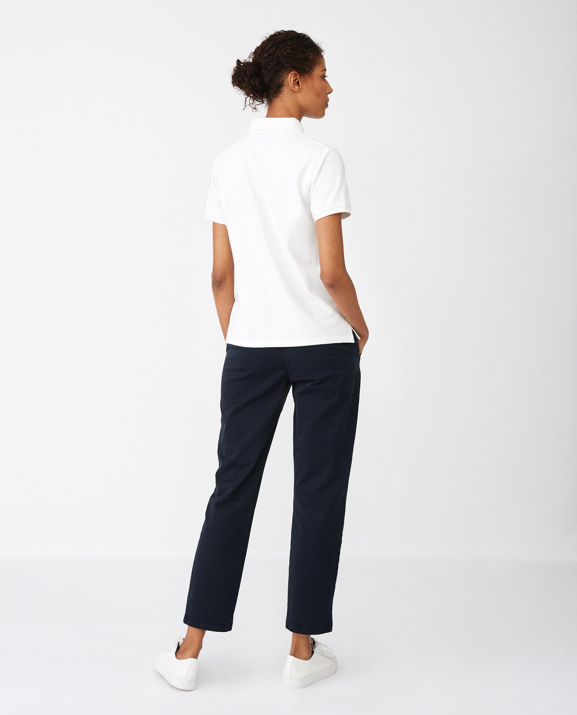 Jess Pique Polo Shirt, White