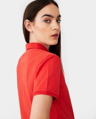 Jess Pique Polo Shirt, Red