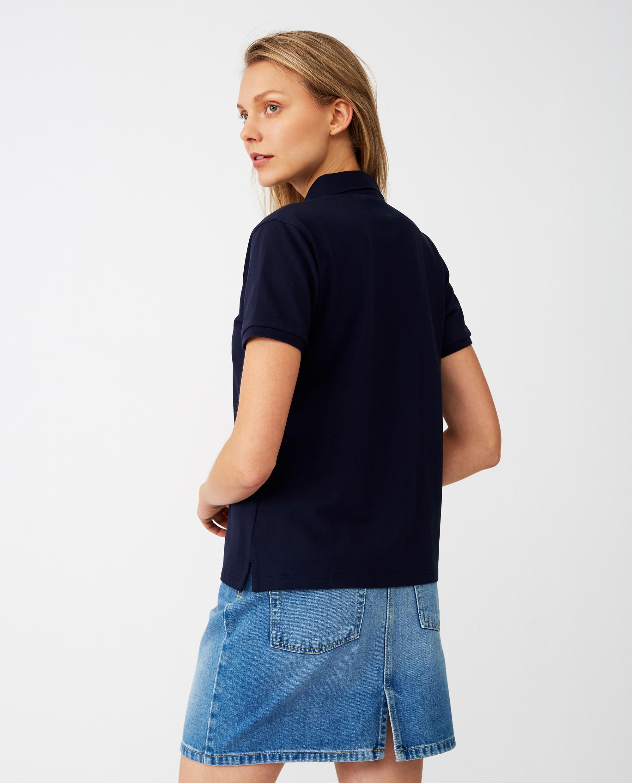 Jess Pique Polo Shirt, Dark Blue