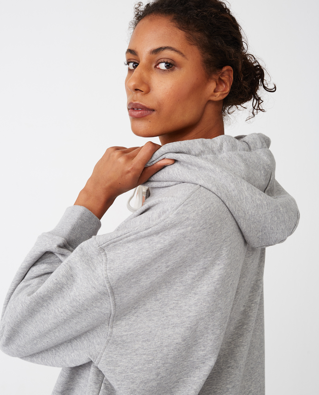 Nikki Hoodie, Light Grey Melange