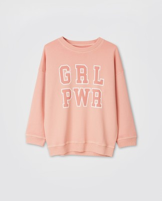 Kibby Girl Power Sweatshirt, Pink