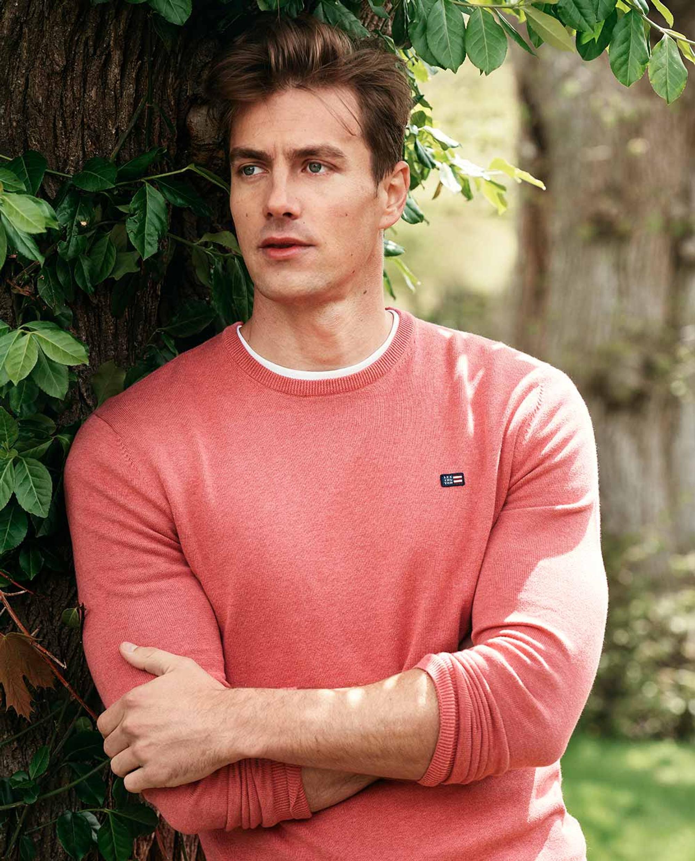 Bradley Organic Cotton Crew Neck Sweater, Red