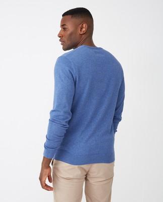 Bradley Crew Neck Sweater, Blue Melange