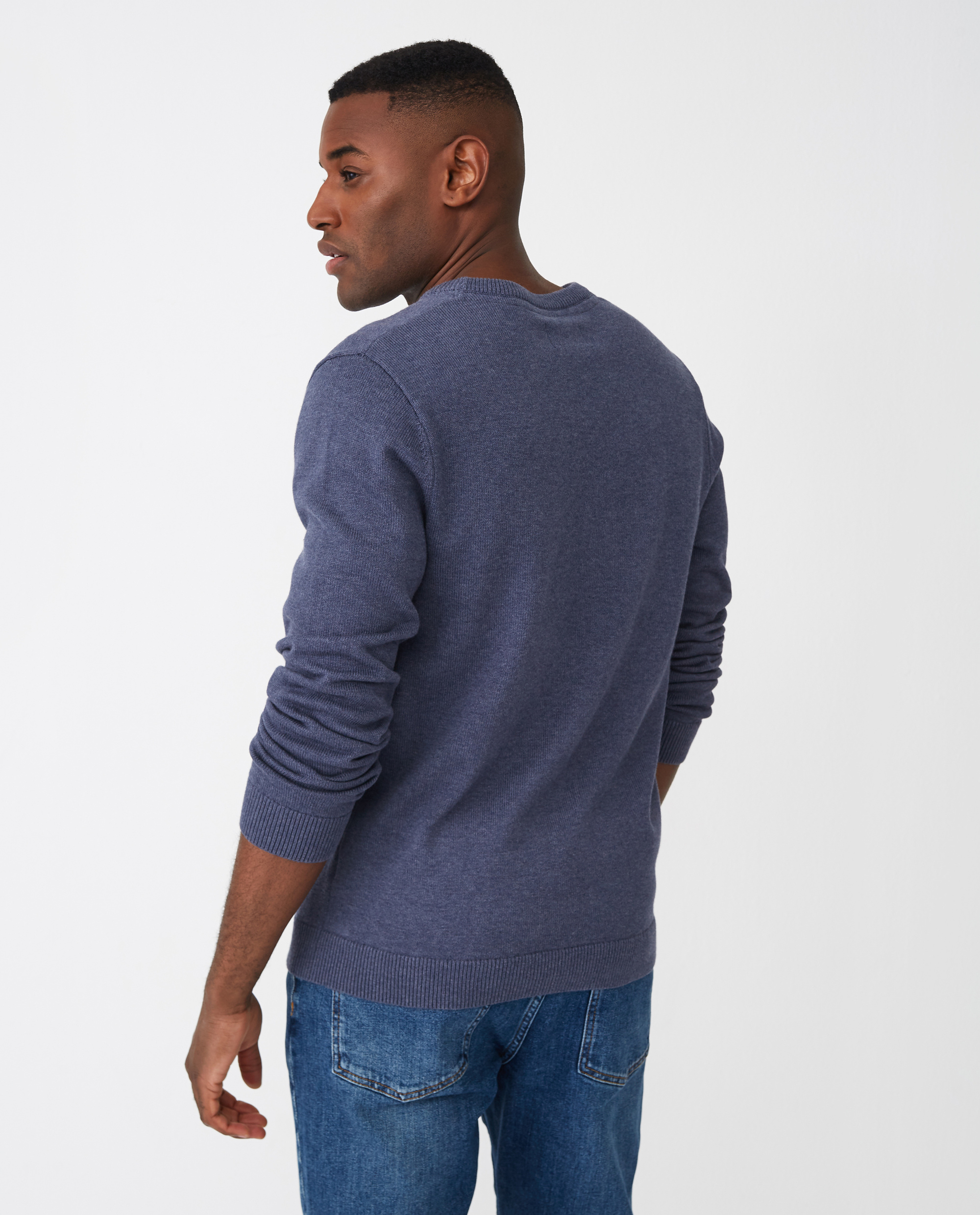 Luis Sweater, Blue Melange