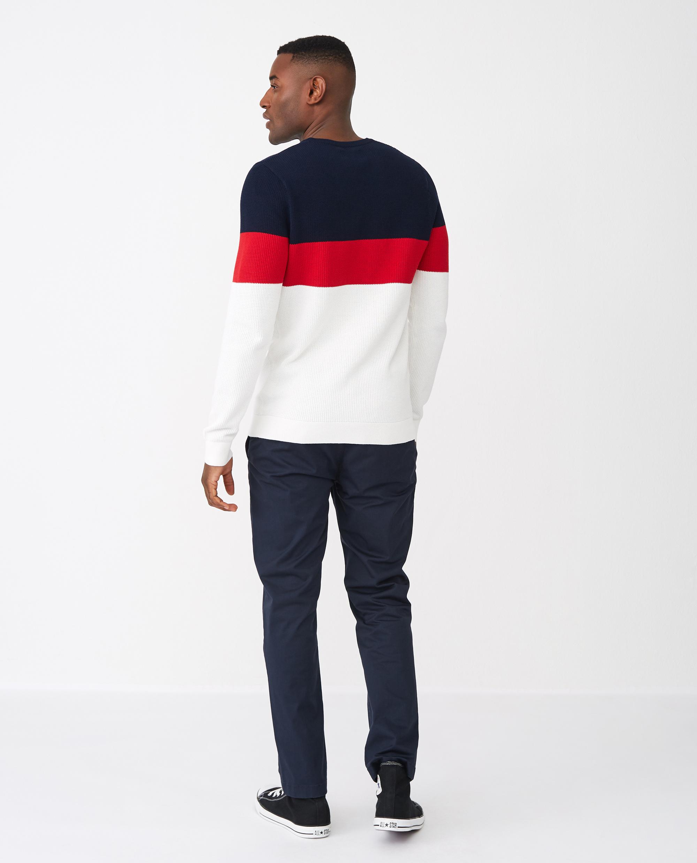 Graham Sweater, Red Multi Stripe