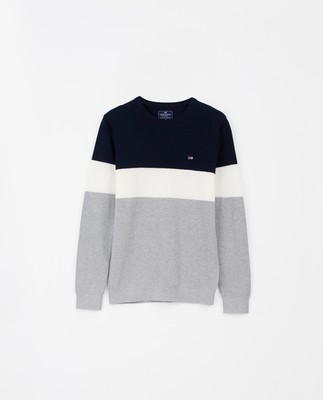 Graham Sweater, Blue Multi Stripe