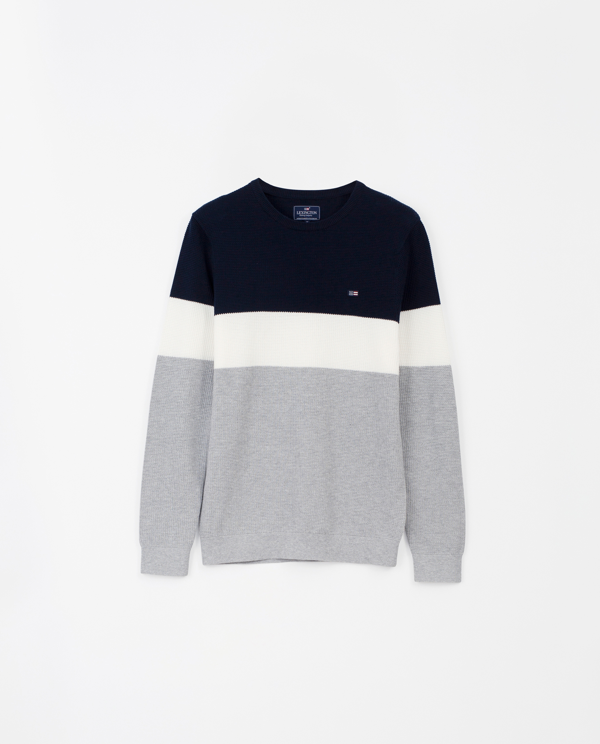 Graham Sweater, Blue Multi Stripe