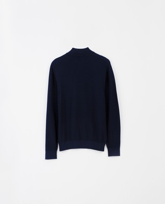 Clay Half Zip Sweater, Dark Blue