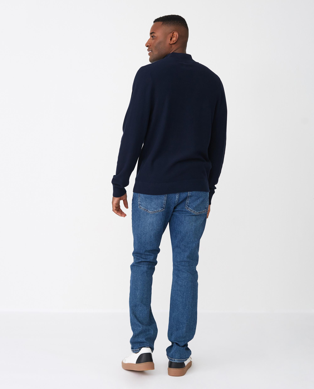 Clay Half Zip Sweater, Dark Blue