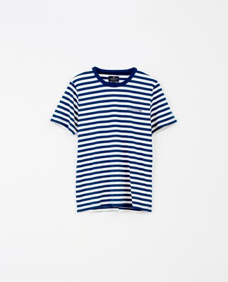 Bill Striped Tee, Blue/White