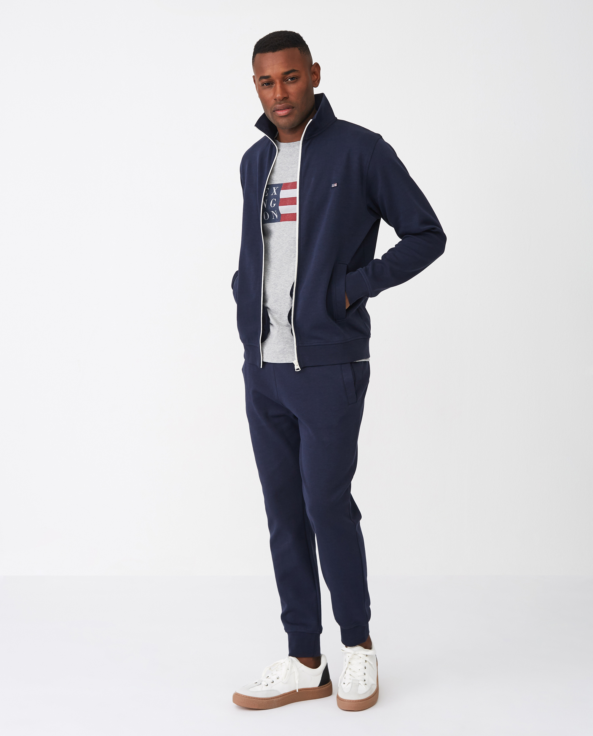 Jay Track Jacket, Dark Blue