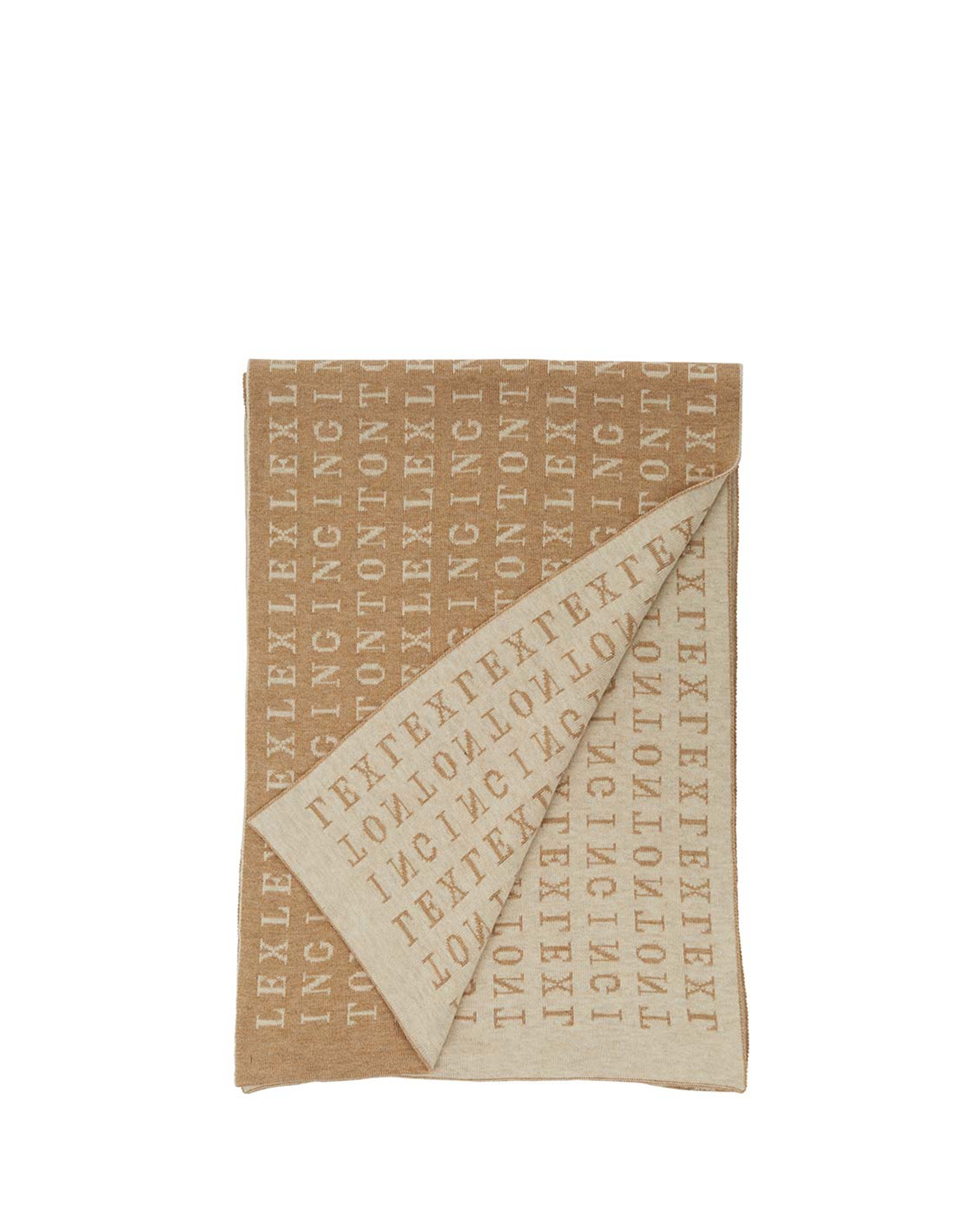 Longwoods Knitted Scarf, Beige Multi