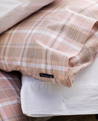 Pink Checked Madras Poplin Pillowcase