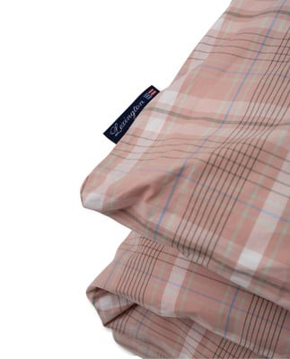 Pink Checked Madras Poplin Duvet