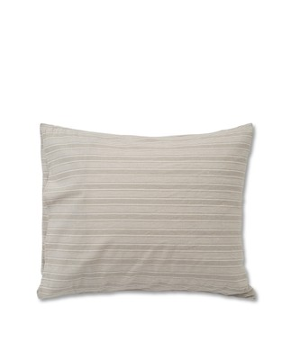Lt Gray Striped Cotton Linen Pillowcase