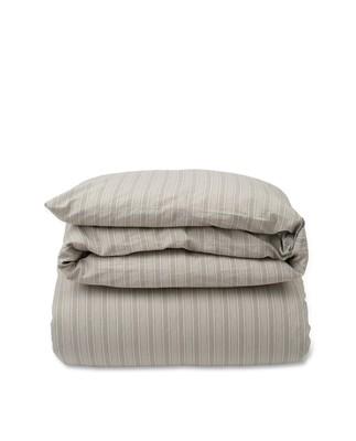 Lt Gray Striped Cotton Linen Duvet