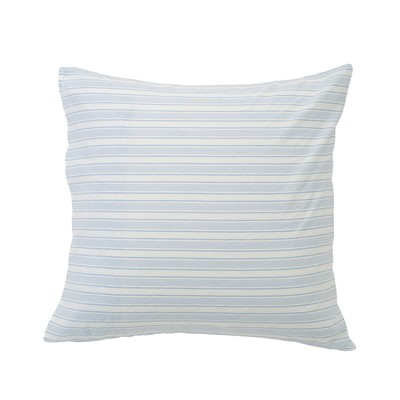 Blue Striped Cotton Linen Pillowcase