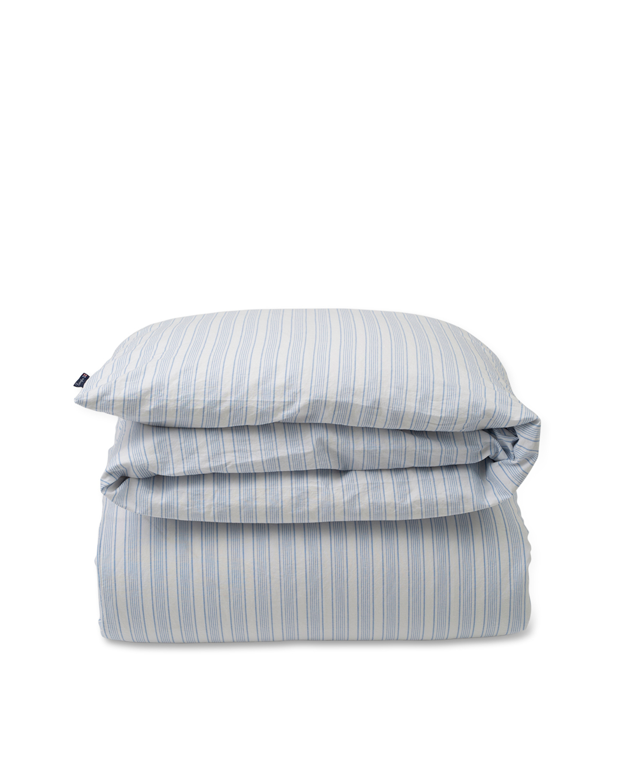 Blue Striped Cotton Linen Duvet
