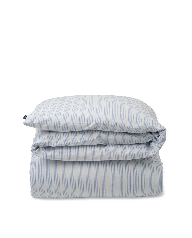 Blue Striped Cotton Linen Duvet