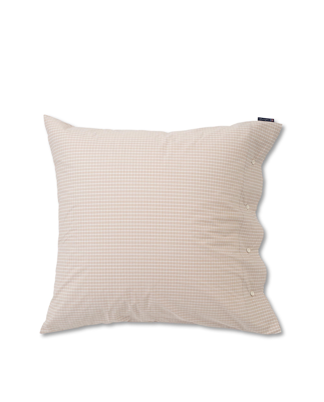Beige Checked Tencel Pillowcase