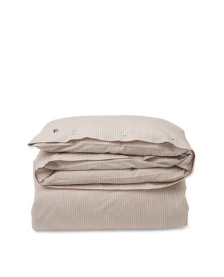 Beige Checked Tencel Duvet