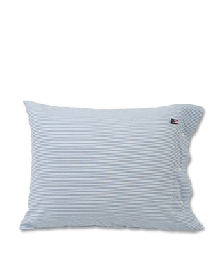 Blue Striped Seersucker Pillowcase