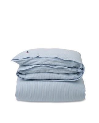 Blue Striped Seersucker Duvet