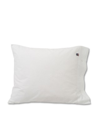 White Striped Seersucker Pillowcase