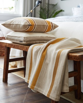 Striped Bedspread, Yellow