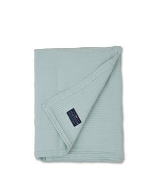 Quilt Cotton Bedspread, Lt. Blue