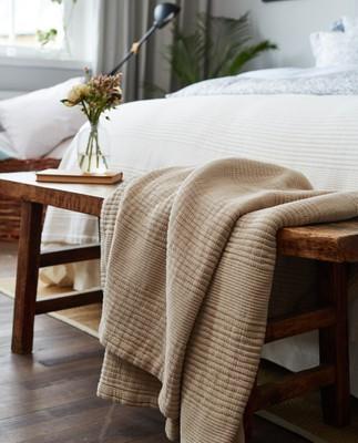 Quilt Cotton Bedspread, Beige