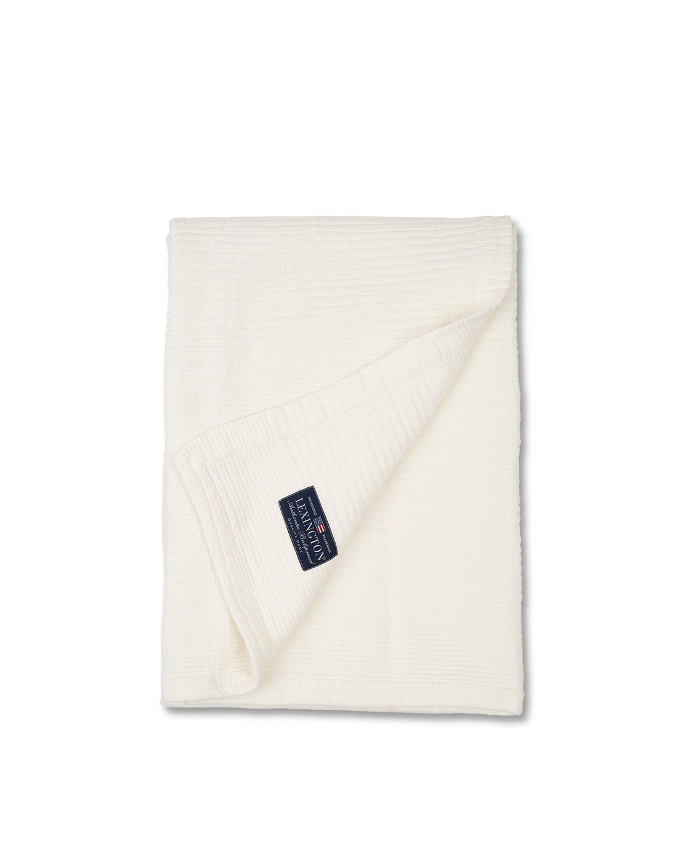 Quilt Cotton Bedspread, White