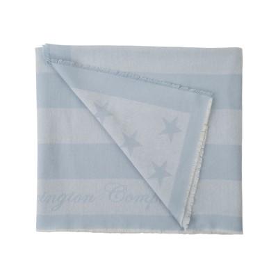 Wool Flag Throw, Lt. Blue