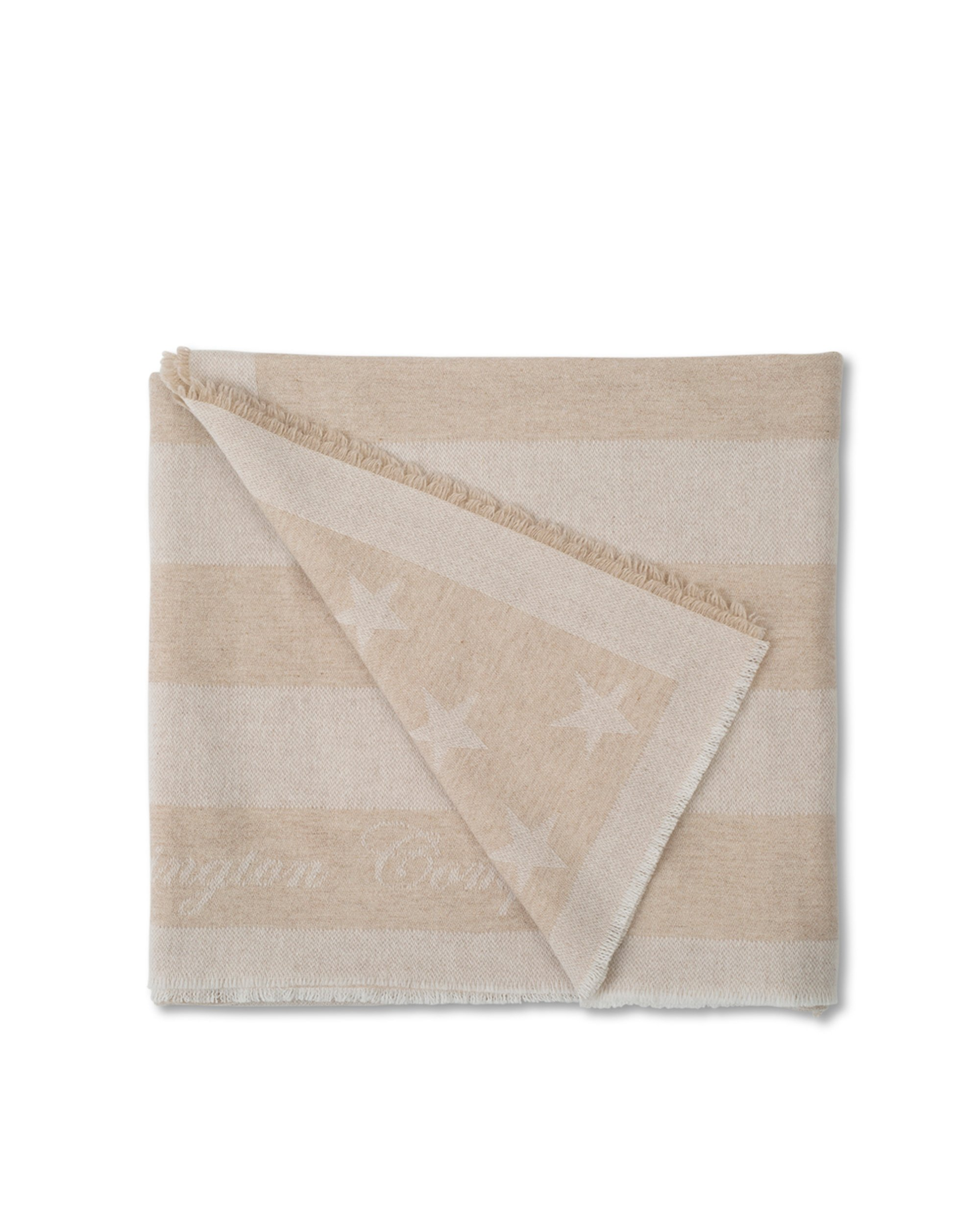 Wool Flag Throw, Beige
