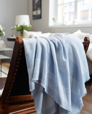 Wool Flag Throw, Lt. Blue