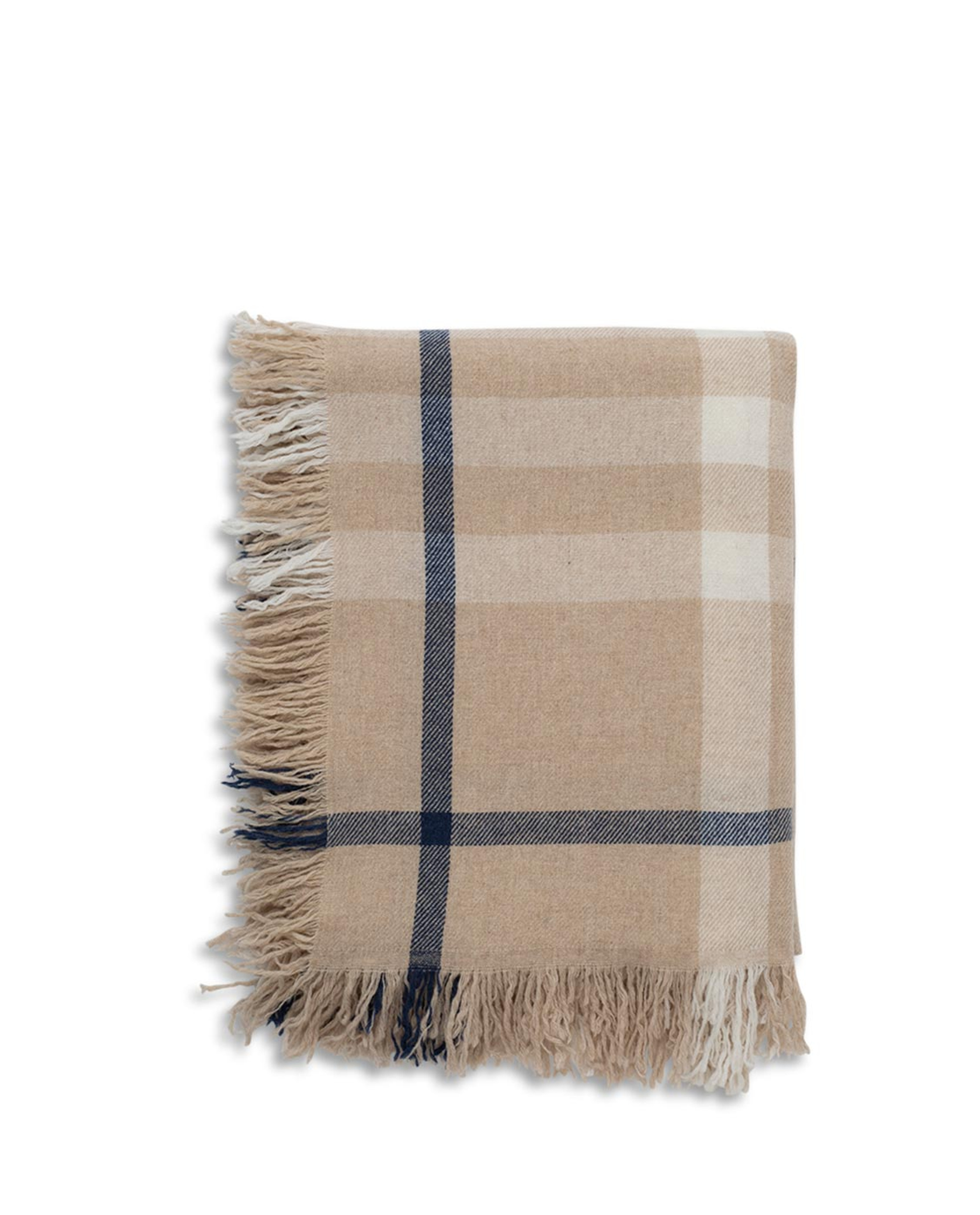 Checked Wool Throw, Multi