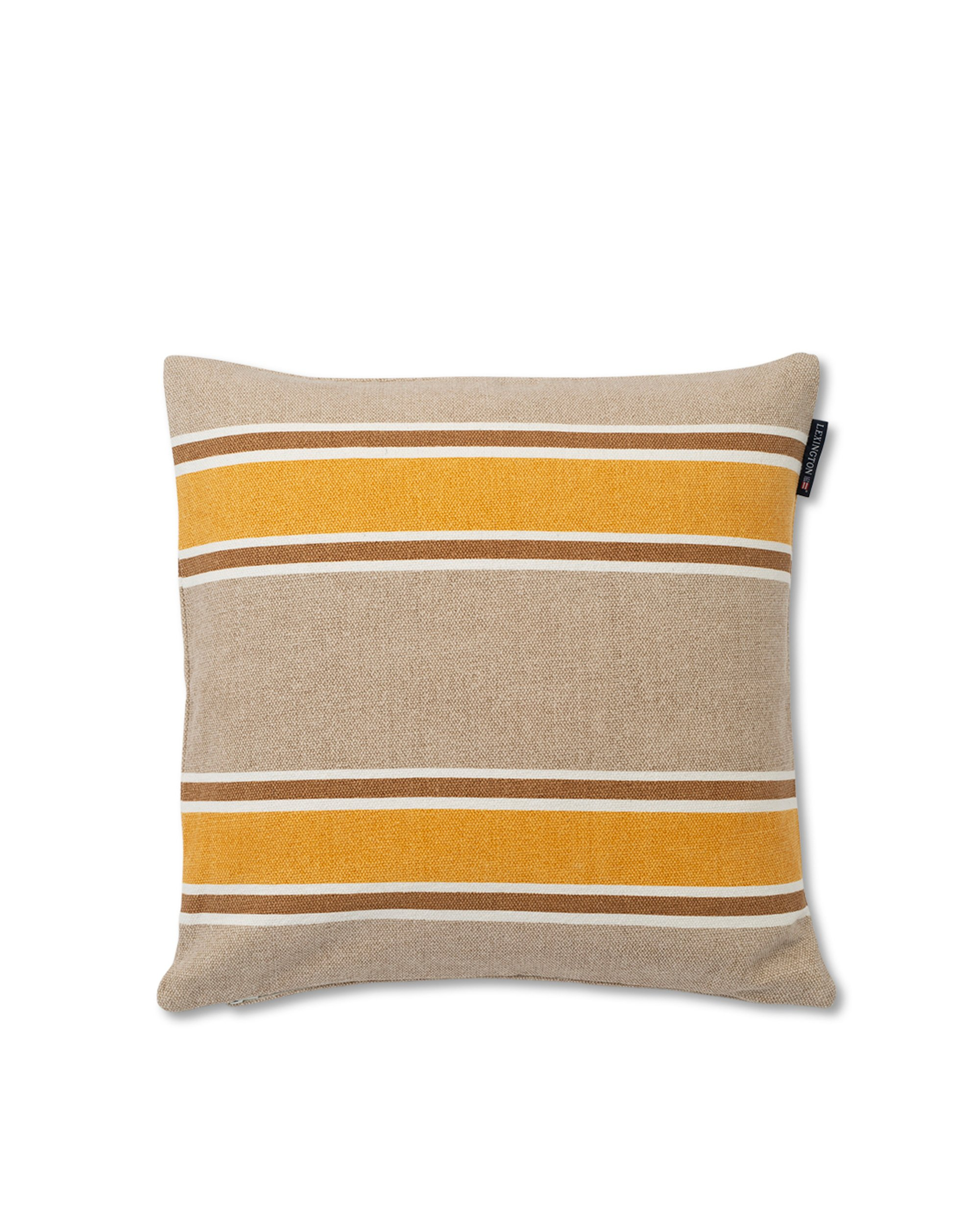 Striped Cotton Canvas Sham, Yellow