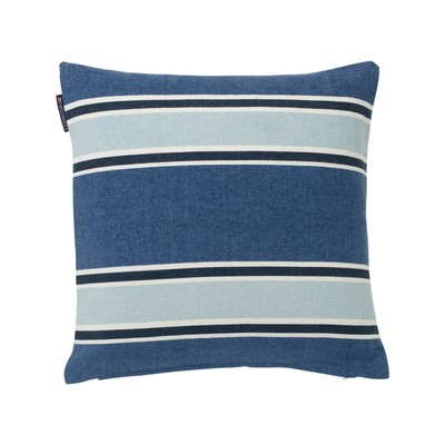 Striped Cotton Canvas Sham, Blue