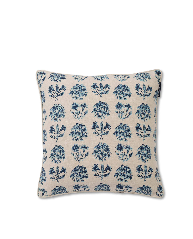 Vintage Flower Sham, Blue/Beige