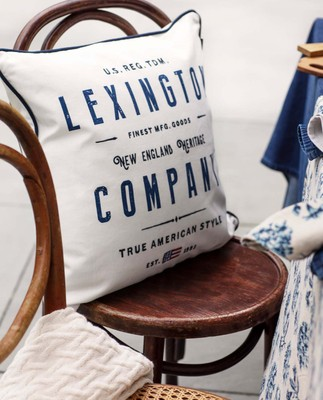 Lexington White Logo Sham