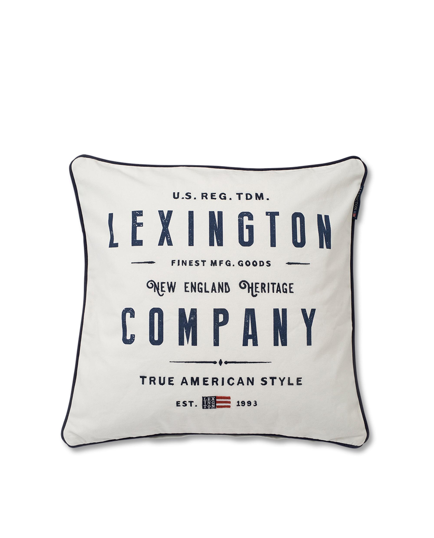 Lexington White Logo Sham