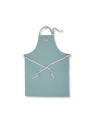 Canvas Apron High, Aqua