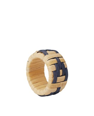 Wicker Napkin Ring, Blue