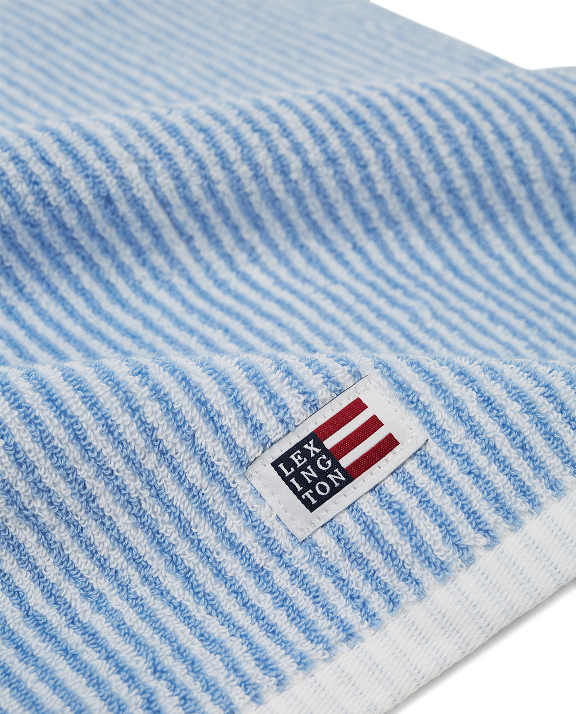 Original Towel White/Blue Striped